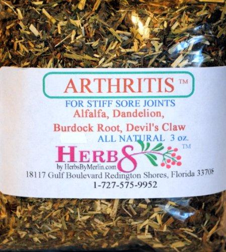 Herbs By Merlin ARTHRITIS TEA (Helpful for sore joints) Organic Loose Leaf Tea 3 oz