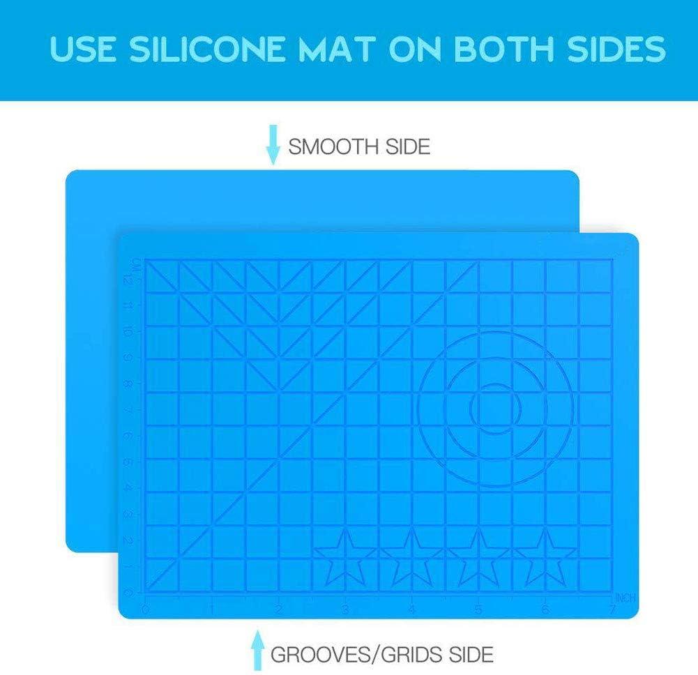 3D Printing Silicone Painting Mat Drawing Board 3D Pen Mat 3D Pen Stencils Book 3D Pen Drawing Tools Blue