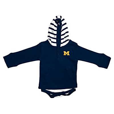 Michigan Wolverines Newborn Infant Striped Hooded Creeper Sweatshirt Jacket