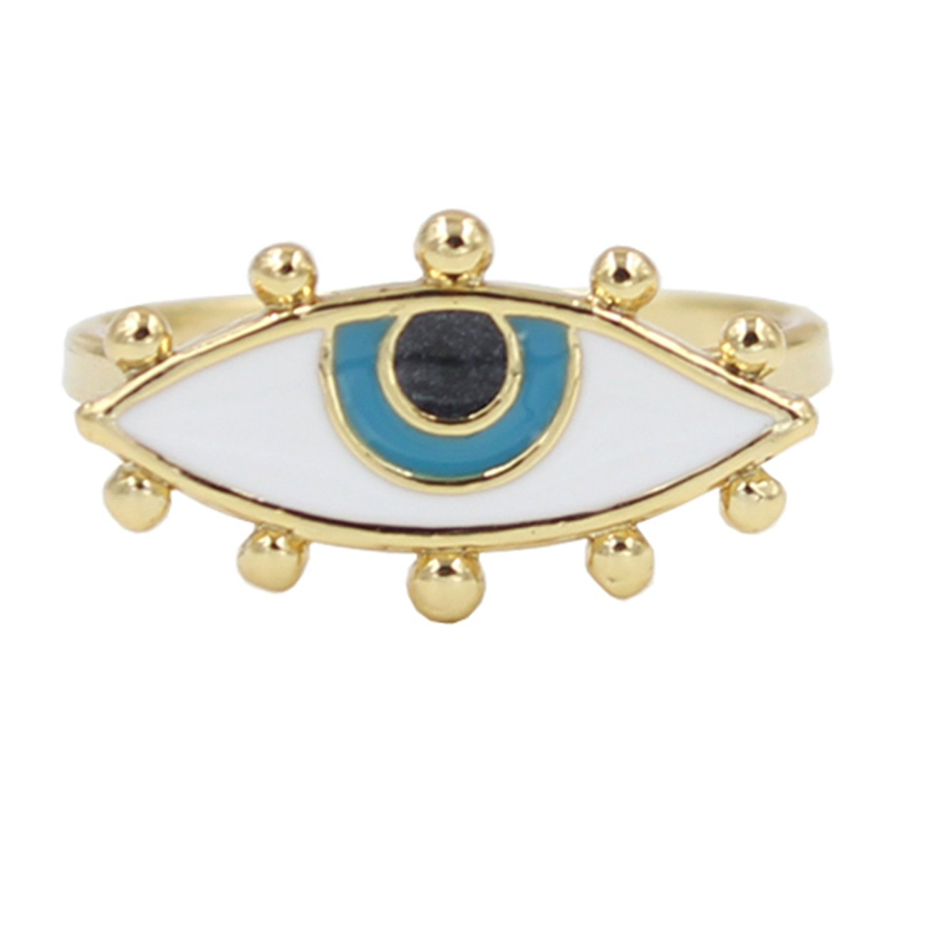 Darget Turkish Evil Eye Cats Eye Gold Plated Faith Protection Lucky Jewelry for Women and Girls DGJD