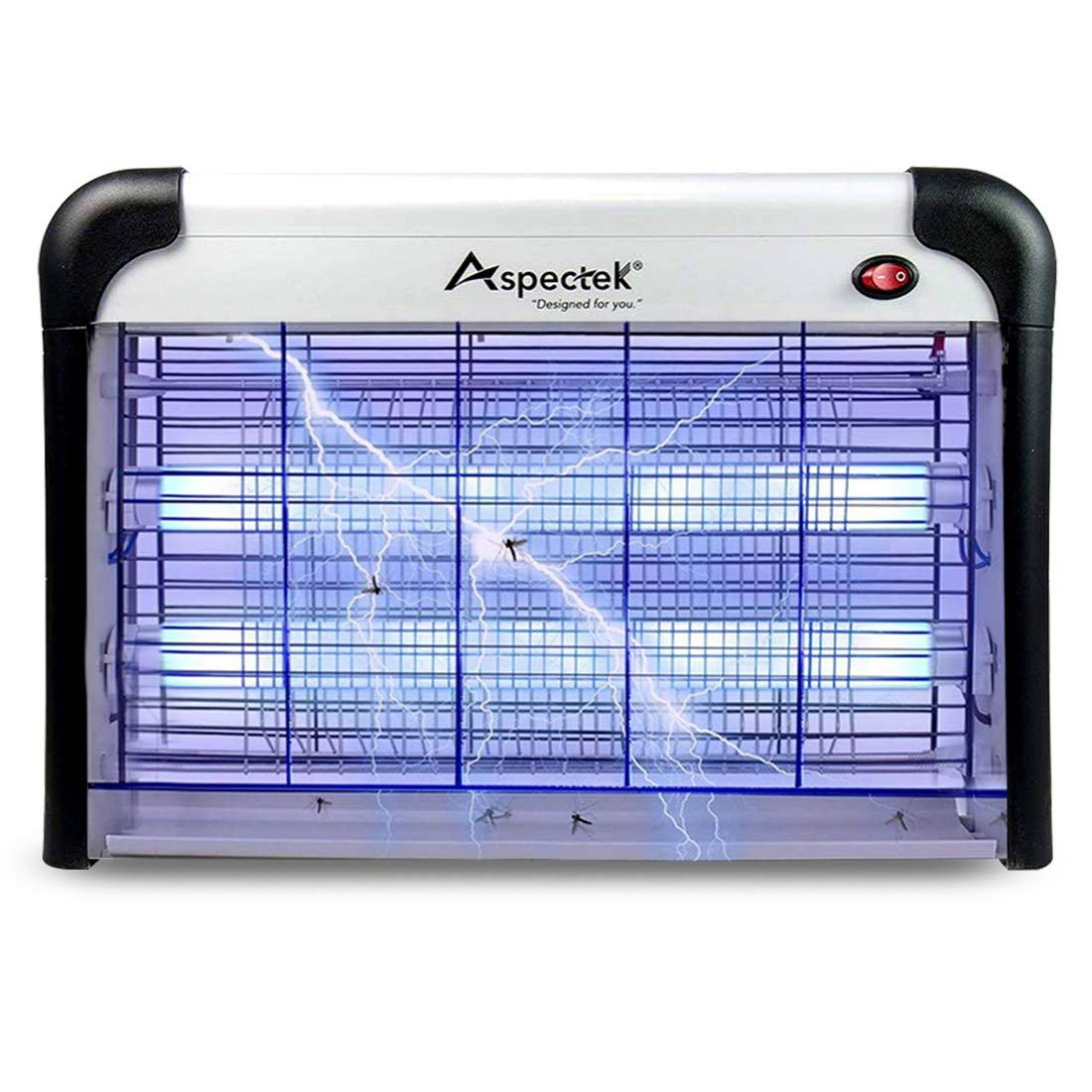 Aspectek Bug Zapper & Electric Indoor Insect Killer Mosquito, Bug, Fly & Other Pests Killer – Powerful 2800V Grid 20W Bulbs - Indoor Use Only ZR-HD