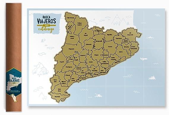 Mapa rascable Cataluña (dorado): Amazon.es: Oficina y papelería
