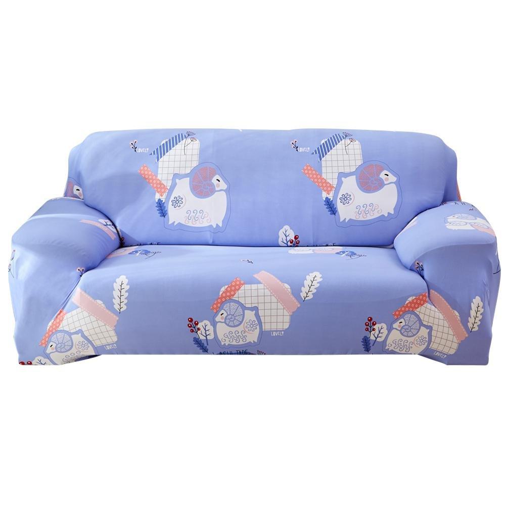 Occitop Elastic Sofa Cover Animal Tight Wrap All-inclusive Slipcovers(Sheep/2-Seat)