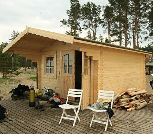 Casita de madera para jardín en madera de abeto, 44 mm - 19, 1 m2, 1-ITALFROM42: Amazon.es: Jardín