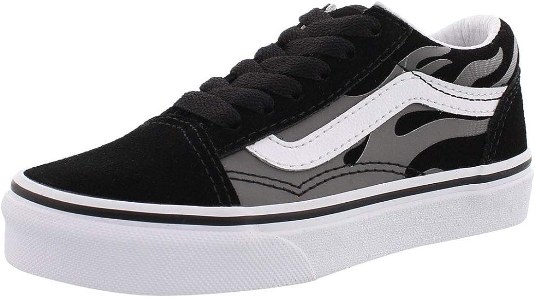 Vans Kids K Old Skool Black Grey Flame