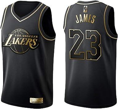 KKSY Camiseta de Baloncesto Hombres James Lakers # 23 Black ...