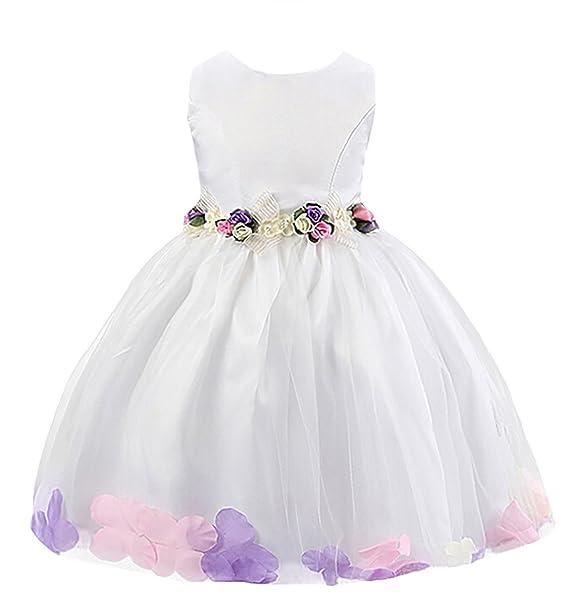 Happy Cherry - Niñas Falda de Boda Fiesta Vestido Princesa Bebés para Ceremonia Faldas Tutú Verano
