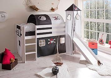 Etagenbett Piratenbett : Pharao piratenbett hochbett weiß schwarz lasse amazon küche