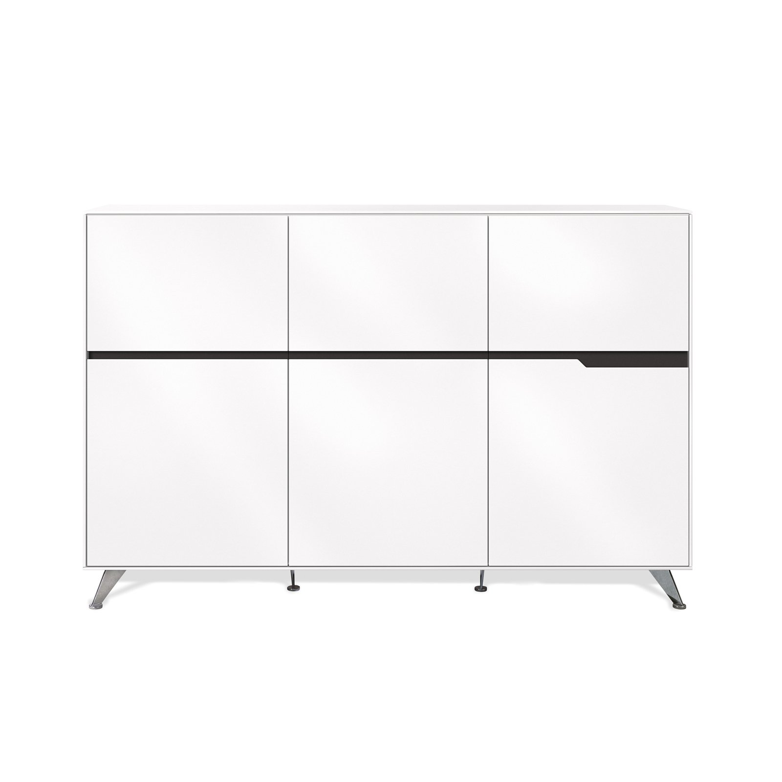 Unique Furniture 496-WH Storage Cabinet, White