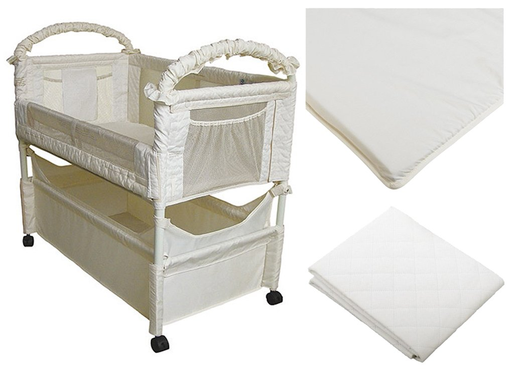 Arm's Reach Clear-Vue Co-Sleeper with Fitted Sheet & Mattress Protector