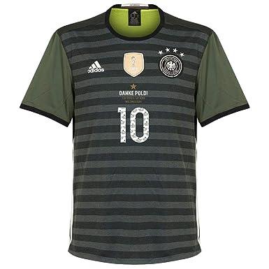 Deutschland Away Trikot 2016 0217 Mit Danke Poldi Special Legend
