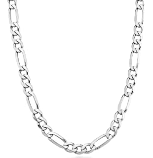 Mia Diamonds 925 Sterling Silver NJ State Pendant with Chain Necklace