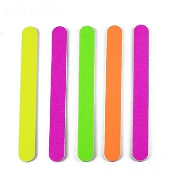 Amazon com : 10Pcs Nail Files Luminous Neon Colors Sanding Buffer