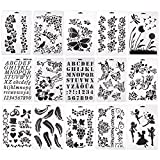 15 Pcs Bullet Journal Stencil Set Plastic Planner