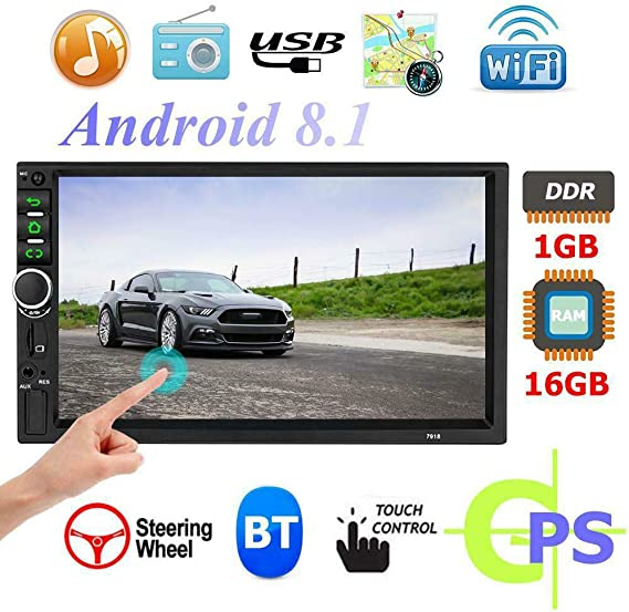 Toogoo 2 Din Android 8 1 Auto Radio 7 Zoll Gps Navi Mp5 Spieler Doppel Wifi Quad Core Bt Mit Kamera 7918 Auto