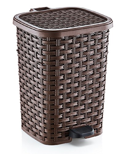 3.1 Gal. Rattan Style Compact Trash Can (Rattan Step Basket)