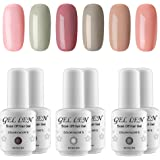 Gellen 6 Colors UV Gel Nail Polish Red Colors Collection Manicure Kit Set