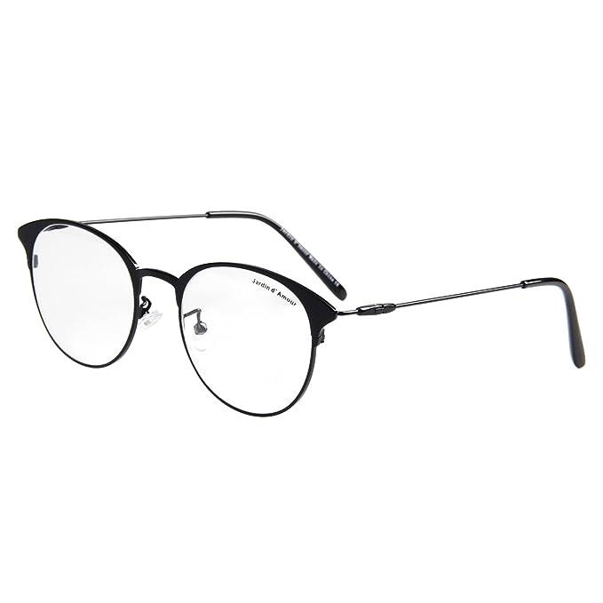 5a8919ddd74 Jardin D amour New Vintage Metal Eyeglasses Non-Prescription Clear Lens  Glasses JA7205 BK