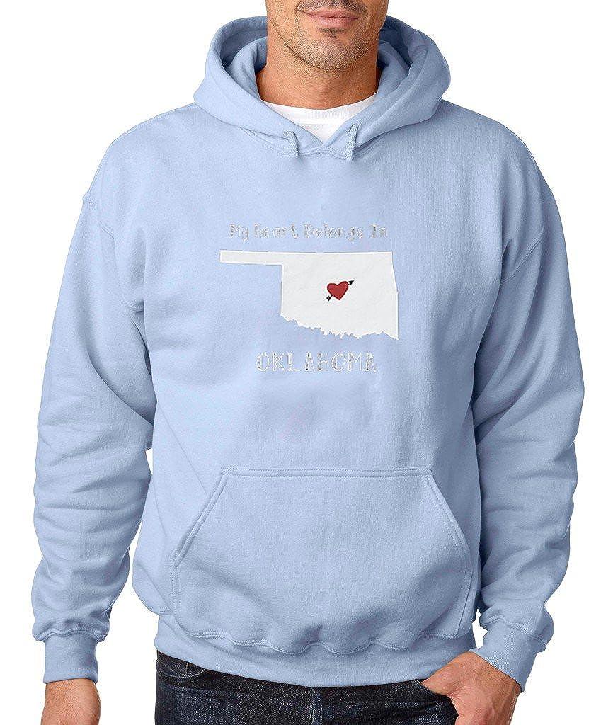 VISHTEA My Heart Belongs in Oklahoma Hoodie Oklahoma State Home Sweatshirt