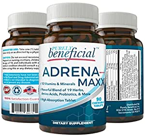 ADRENA-MAXX - Natural Adrenal Supplement, 45Day Supply- Fatigue Relief, Supports Adrenal Function, Stress Response, Enhanced Energy - Pure, Organic Ingredients -... from PURELY benefical