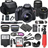 Canon EOS Rebel T6 DSLR Camera Bundle with Canon EF-S 18-55mm f/3.5-5.6 IS II Lens + EF 75-300mm f/4-5.6 III Lens, SanDisk 32GB Memory Card + Accessory Kit