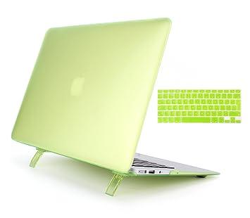 lianguk 12 inch color ver a través de esmerilado mate Carcasa rígida Carcasa con función atril + Skin para teclado – para Apple MacBook 12 pulgadas ...