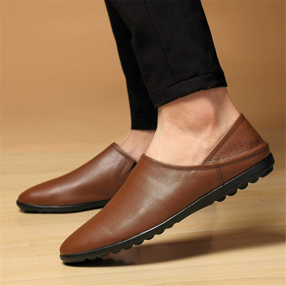 WOJIAO Lässige Erhöhung 8 cm Stiefel Herren High Top Elevator Schuhe Schwarz Braun Oxfords