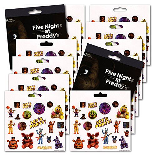 Price comparison product image Five Nights at Freddy's Party Favors - Bundle of 12 Sheets 240+ Stickers!