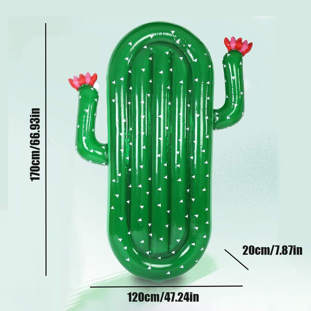 ZEDMA Colchoneta Hinchable Cactus Inflatable Flotadores ...