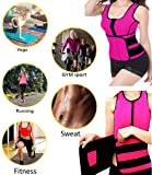 DODOING Neoprene Sweat Vest for Women Slimming Body Shaper with Adjustable Waist Trimmer Belt Weight Loss Pink
