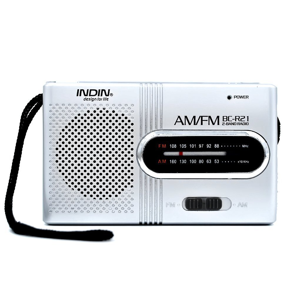 AM FM Portable Radio Mini Pocket Radio Receiver Personal Walkman Radio with Telescopic Antenna, Powered by 2 x AA (Not included)