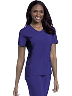 8bcc9a0097f Amazon.com: Urbane Women's Set-In V-Neck Scrub Top: Blouses: Clothing