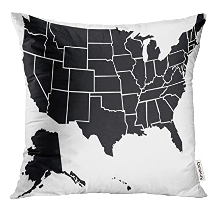 Amazon.com: TOMKEYS Throw Pillow Cover Outline Chunky ...