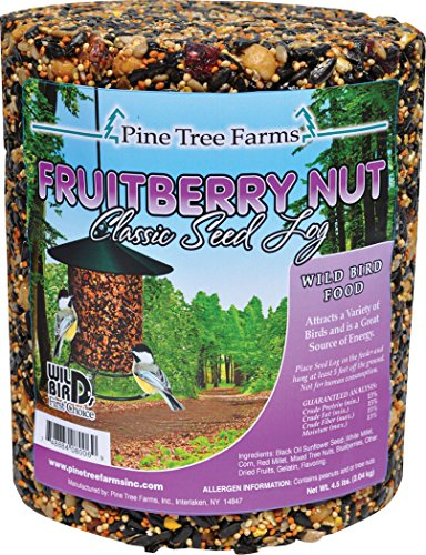 Berries Seed - 6 Pack - Pine Tree Farms 72 Ounce Fruit Berry Nut Classic Seed Log 8006 Made in USA