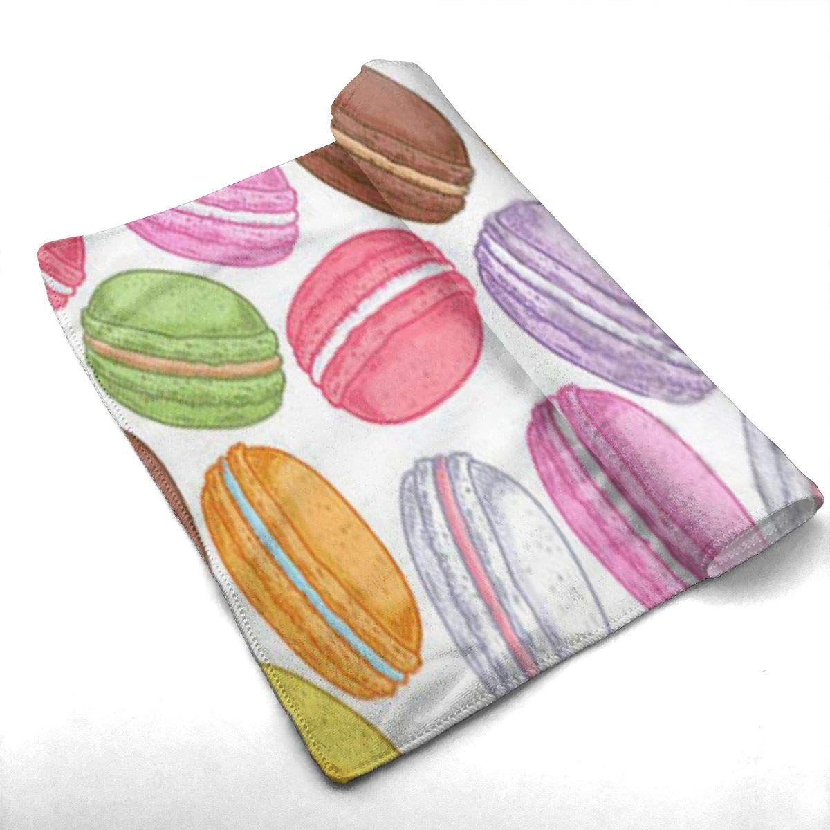 Yago And Spa fhjhfgjghfjghfj Asciugamani Hand Towels Beach Towel Colorful Macarons 2 Highly Absorbent Quick-Dry Towels Kitchen Dishcloths,Dish//Tea Towels Sports Towel for Hand Face Gym