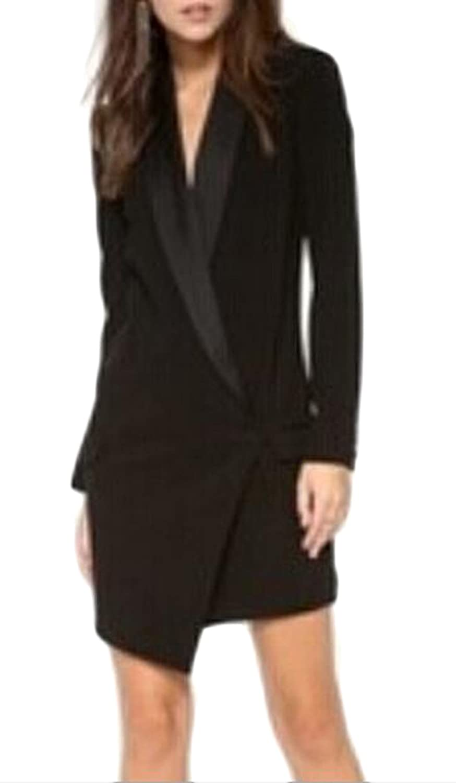 Zago Womens Slim Irregular Cut One Button Coat Blazer Jacket