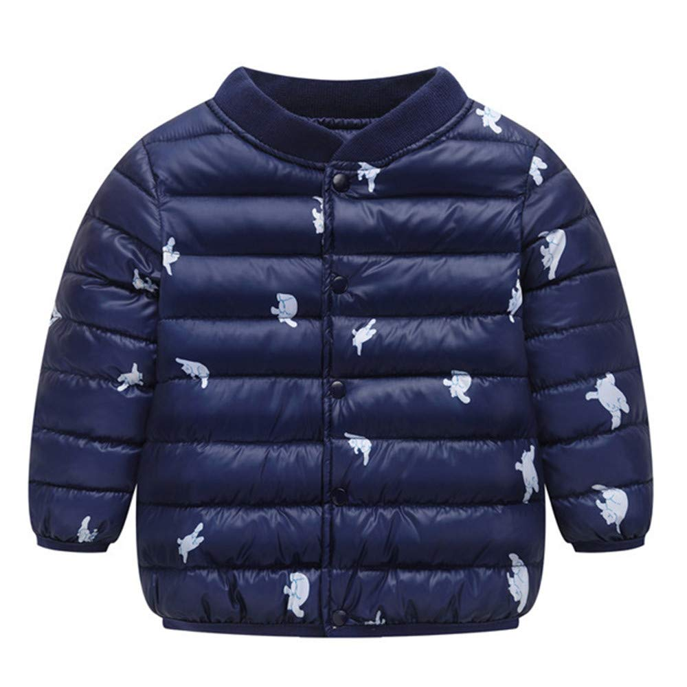 Kids Baby Girl Boy Long Sleeve Winter Cartoon Coat Cloak Jacket Thick Warm Outerwear Clothes