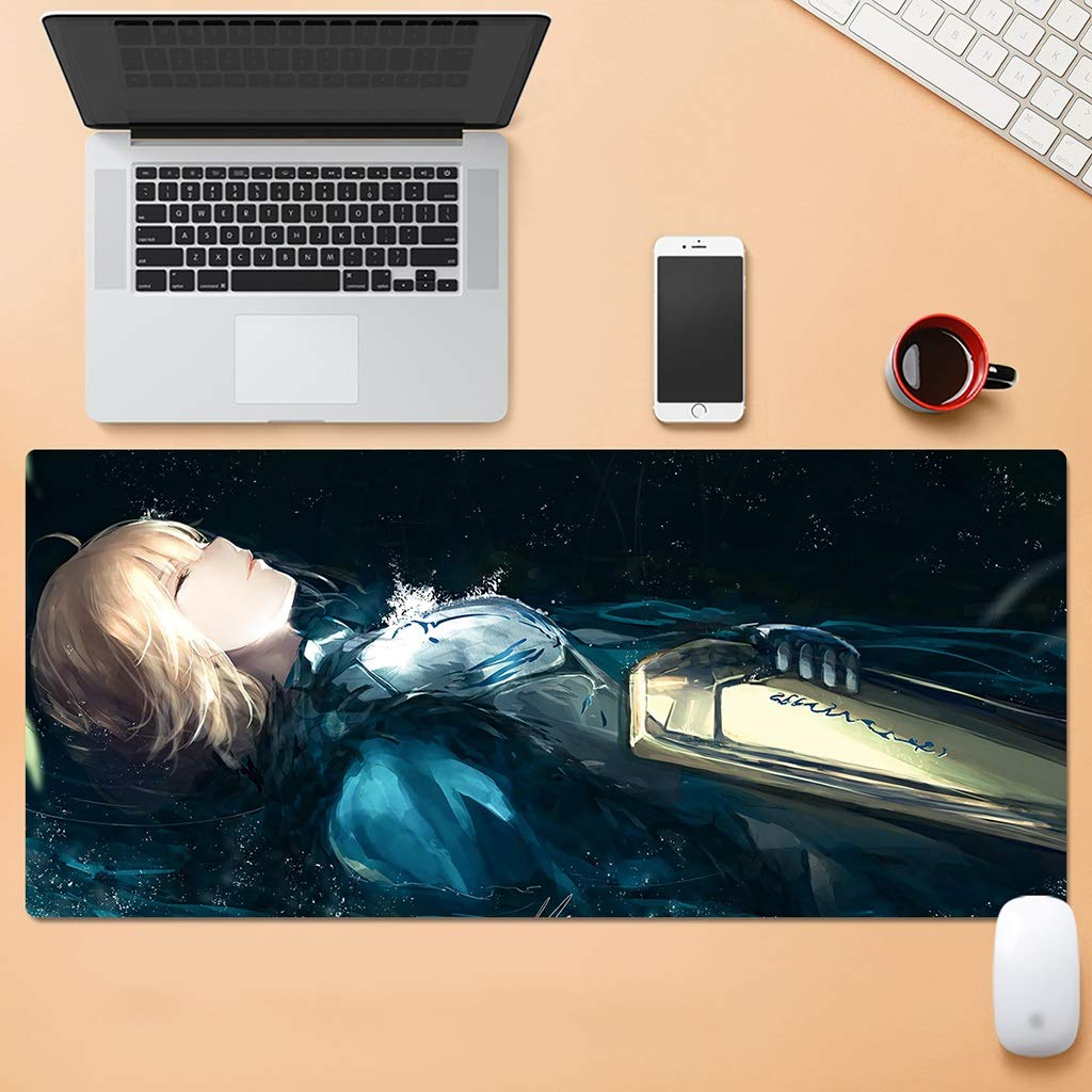 QYLOZ Extended Mouse Pad Household Large Gaming Mouse Pad Mouse Can Be Used Flexibly Stitched Edge Design Washable Without Fading (Color : F, Size : 4mm) by QYLOZ