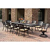 Darlee Ocean View Extension 11 Piece Dining Set in Antique Bronze Review