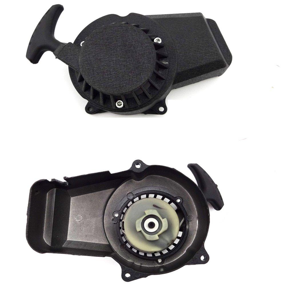 47/cc 49/cc Minimoto Pocket Bike Mini Moto Dirt Bike ni/ños ATV Quad F/ácil de aluminio stoneder Recoil Pull Starter para Motor de 2/tiempos