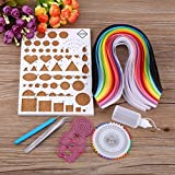 Lavenz Paper Crafts DIY Paper Craft Template Board Tweezer Pins Slotted Pen Quilling Tools Kit