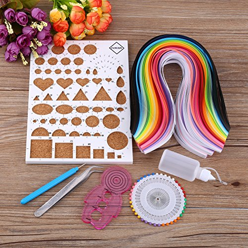 Lavenz Paper Crafts DIY Paper Craft Template Board Tweezer Pins Slotted Pen Quilling Tools Kit by Lavenz