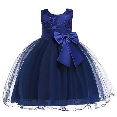 a pies en fina artesanía grande descuento venta LZH Vestido de Niñas Boda Fiesta de Princesa Encaje de Flor Cóctel Vestido