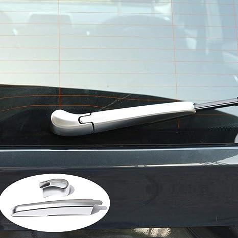 Luxuqo - Limpiaparabrisas trasero de carbono ABS cromado para 2 series 218i F45 F46 2015-