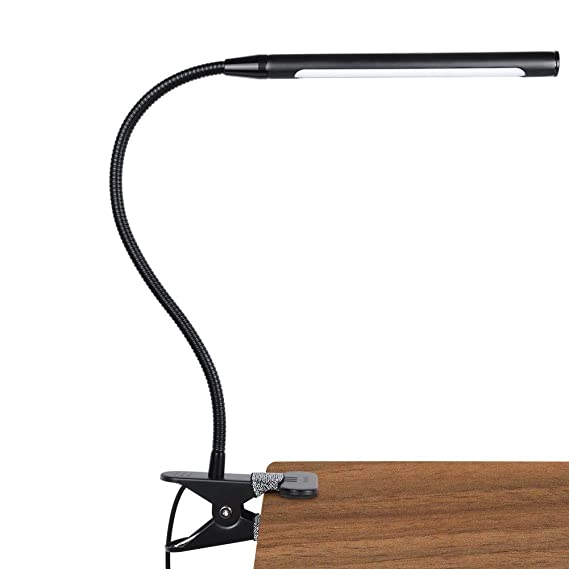 Lepower 4 W Led Clip On Light/Reading Lights/Night Book Light/Clamp On Lights, 3 Color Temperature Settings Stepless Adjustable Brightness Clip Lamps For Desk, Bed Headboard, Computer And Piano by Lepower