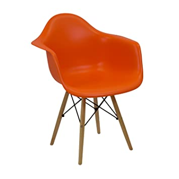 Vaukura Silla Eames - Silla Tower DAW Naranja