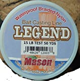 Cheap Mason Legend Bait Casting Braided Nylon Fishing Line, 15-Pound