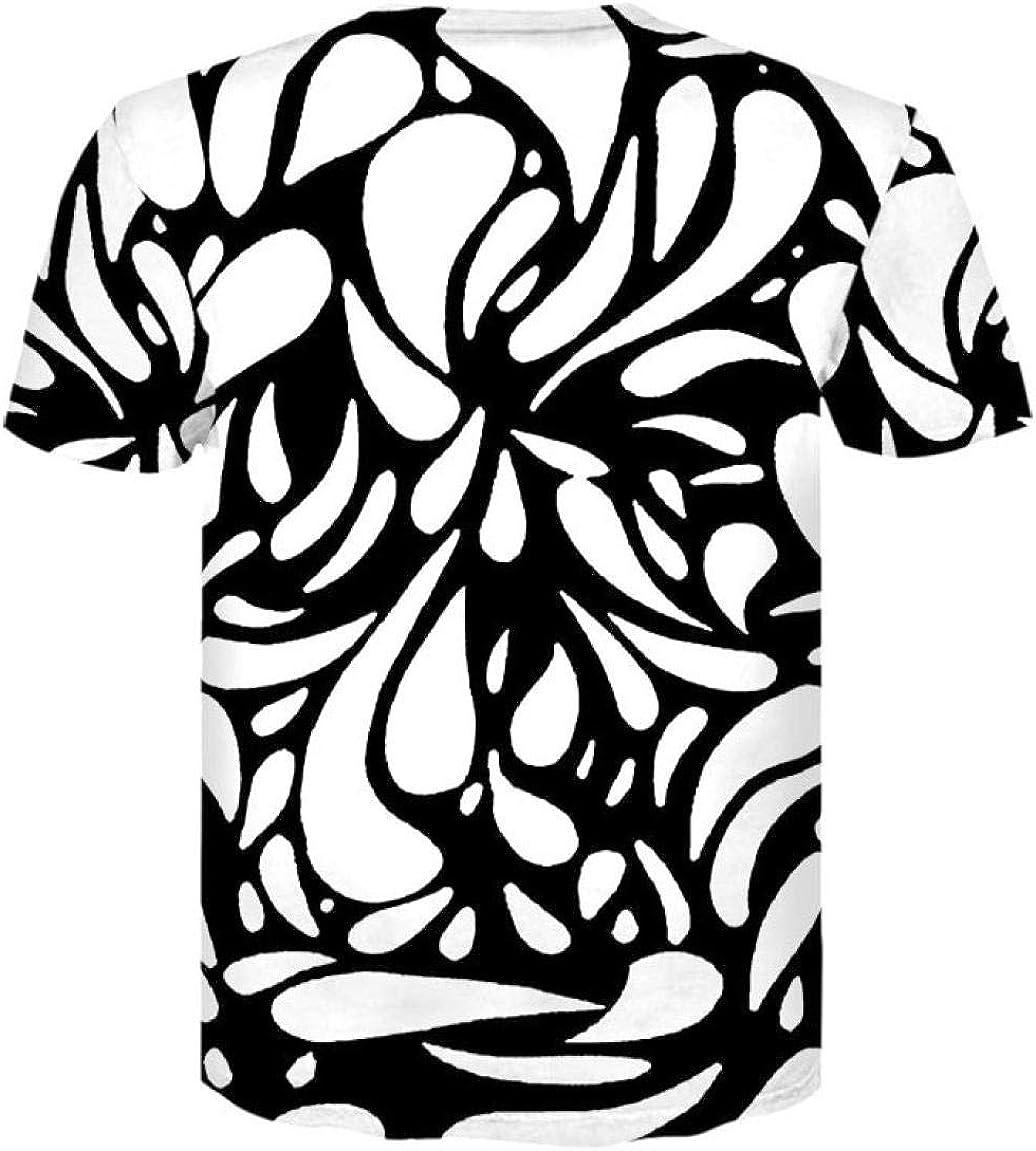 Luotears Camiseta Estampada con hipnosis de vértigo en