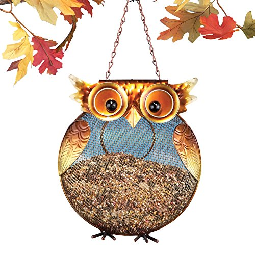 Mesh Owl Bird Feeder Brown