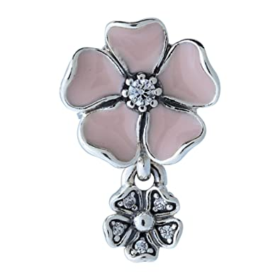 247ab9d24 Image Unavailable. Image not available for. Color: PANDORA Poetic Blooms  Pink Charm791827EN40